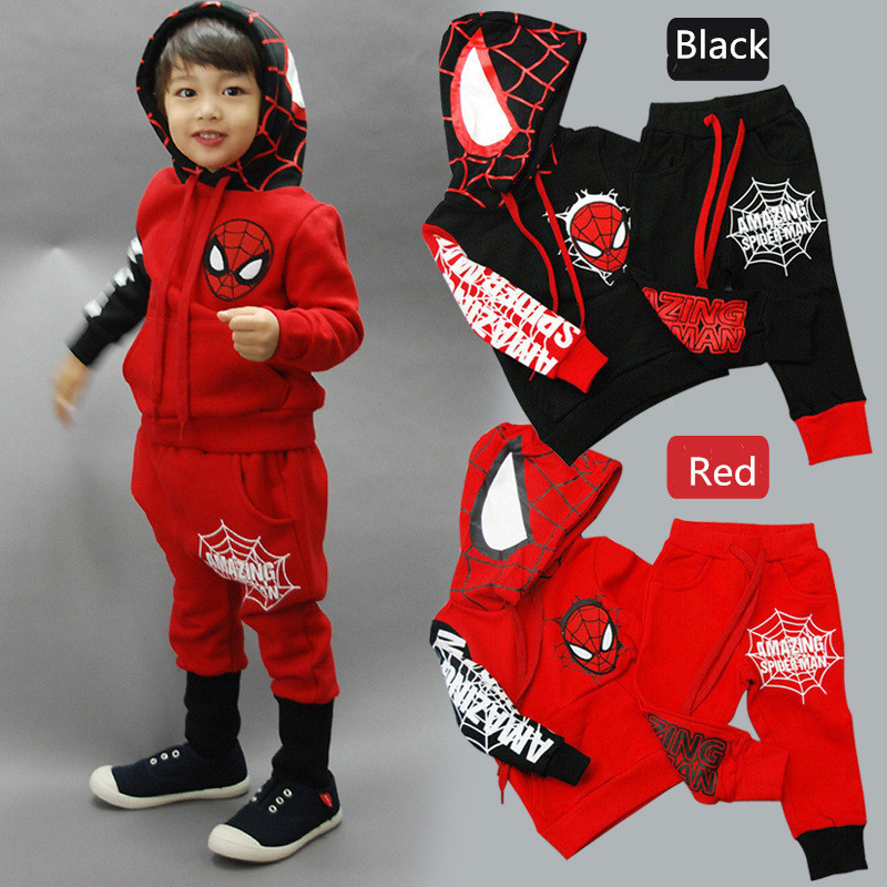 2015 2 - 6 years old baby boys clothes cartoon spider-man kids clothing high quality super hero children's fashion clothes(China (Mainland))