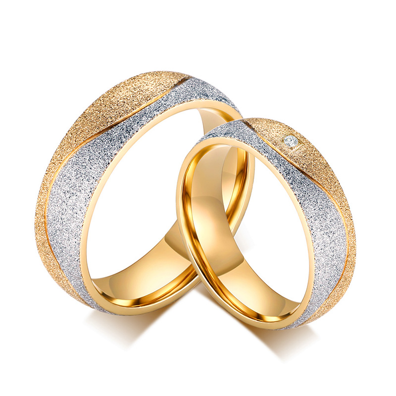 Fashion Men And Women Engagement Wedding Rings For Men And Women