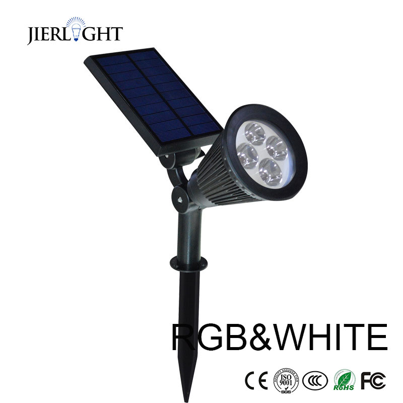 3pcs 4 LED Solar Powered Spotlight Outdoor Garden Landscape Lawn Yard Path Spot decor Light Lamp Auto On hot sales(China (Mainland))