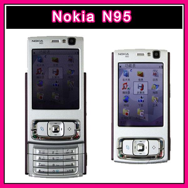 N95 Original Nokia N95 WIFI 3G GPS 5MP 2.6''Screen Classic smartphone Mobile Phone Good quality refurbished(China (Mainland))