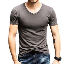 Модные мужские футболки, летний спортивный топ для бега, футболки, мужская одежда с короткими рукавами, повседневная х/б футболка для фитнес...(China)