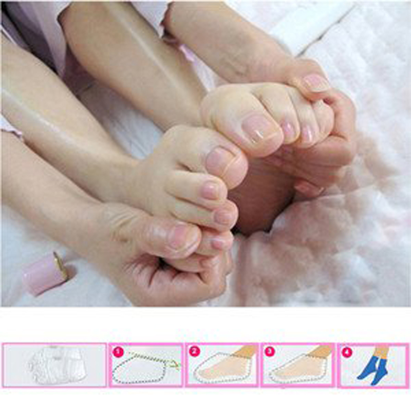 5 pairs=10pcs Charming Aroma Personal Feet Care Pedicure Socks Baby Foot Peeling Tendering Renewal Spa Smooth Foot mask(China (Mainland))