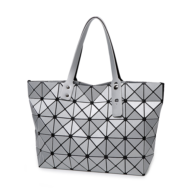 New Arrival issey Miyake Bao Bao Handbag Simply Style Matt surface Quilted Foldable Cube Shopping Bag Cool Women Shopping Bag <br><br>Aliexpress