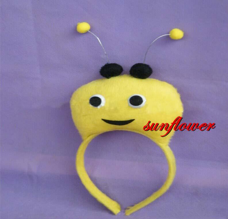 Children Adult Animal 3D Antenna Fly Bee Headband Birthday Party Costume Cosplay Headband Prop High Quality(China (Mainland))