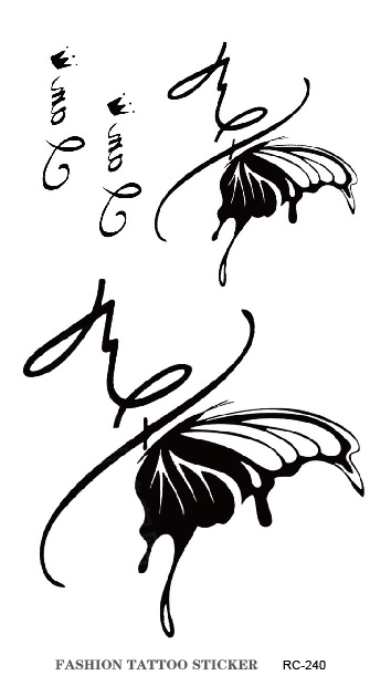 Crown English Letter Butterfly Pattern Design Waterproof Transfer Temporary Tattoos Stickers Beauty Art Henna Tatoo(China (Mainland))