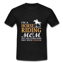 Unique Customized I'm A Horse Riding Mon Men's 100% Cotton Short Sleeve T-Shirt Casual Short Sleeve Shirt Tee(China (Mainland))