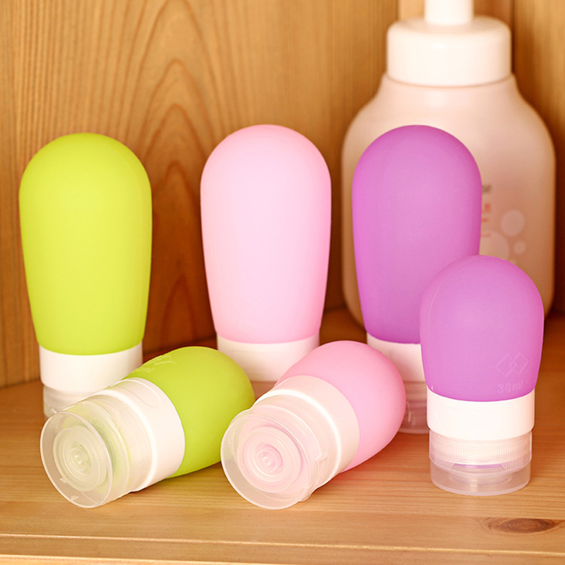 Hot Selling 1 pcs Silicone Refillable Bottles Portable small sample containers Mini Traveler perfume bottles Shampoo Bath M01940(China (Mainland))