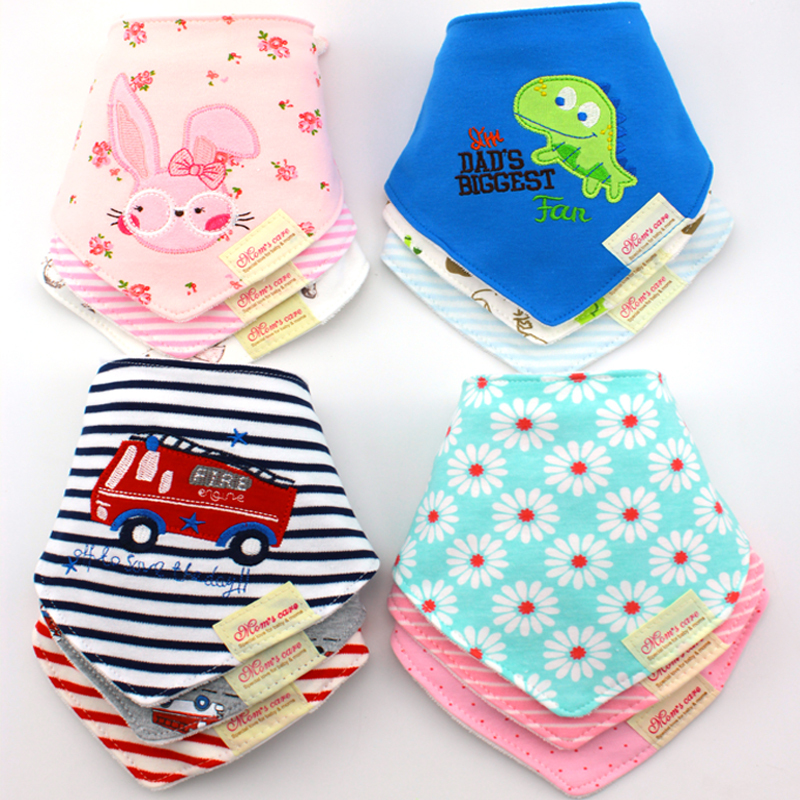 45 Pattern Cute Cotton Baby Towel Toddler Newborn Triangle Scarf Babero Girls Feeding Smock Infant bibs