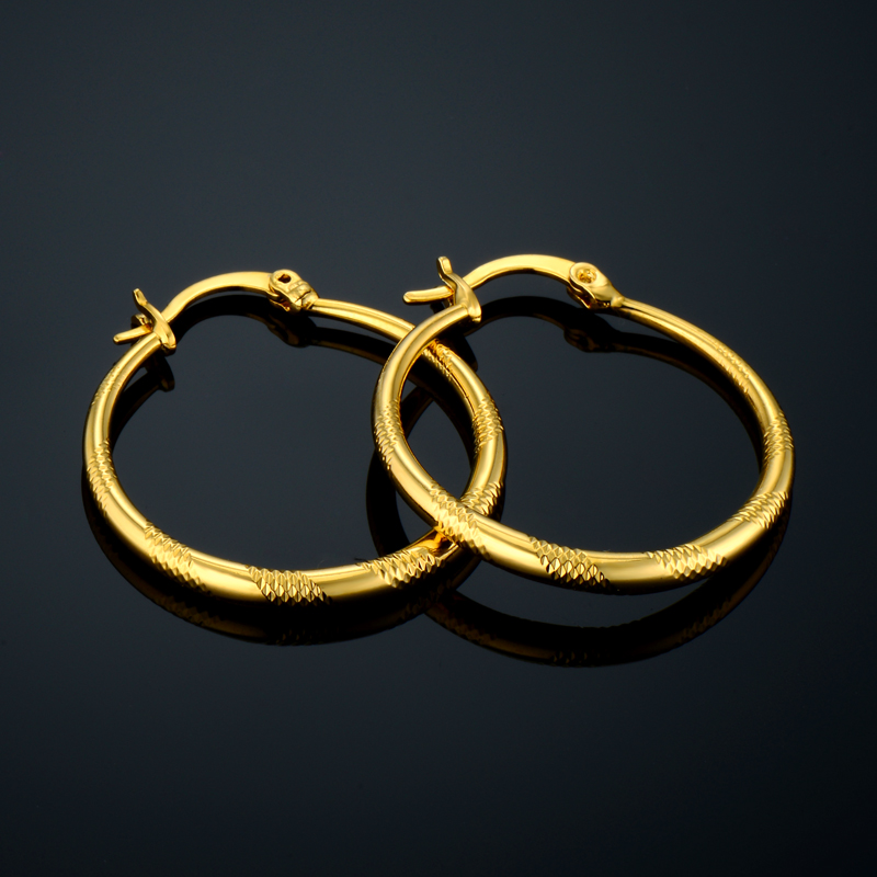 Brand New Fashion Jewelry 18K Gold Plated Earring Brincos Pendientes Round Hollow Out Large Hoop Earrings For Women Gift Sale(China (Mainland))