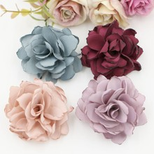 Buy New Arrival 120PCS/lot Burned Satin Flower Handmade flower Hair Flowers wedding flower Boutique Hair Accessories for $53.31 in AliExpress store