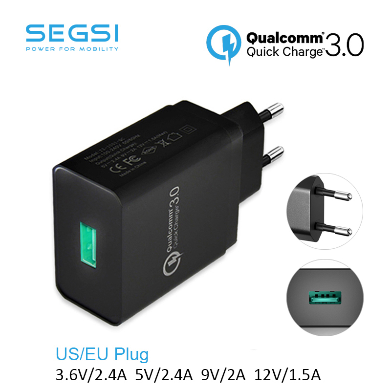 Quick Charge 3.0 USB FAST Wall Charger EU Plug Qualcomm QC3.0 Mini Auto Travel Charging For Apple iPhone 6s HTC & <font><b>Smartphone</b></font>