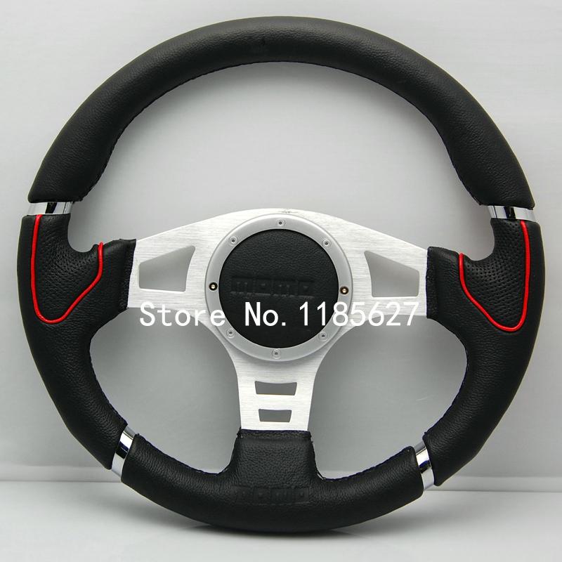free shipping 340mm 14inch MOMO Steering Wheel Universal Racing Steering Wheel Sport Car Steering Wheel(China (Mainland))