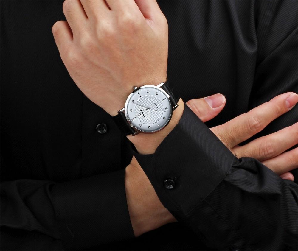 FOTINA Топ Бренд Мужской Часы Ультра Тонкий футляр Из Натуральной Кожи Часы Мужчины 50 м Водонепроницаемый Случайные Бизнес Часы Мужские Наручные Часы