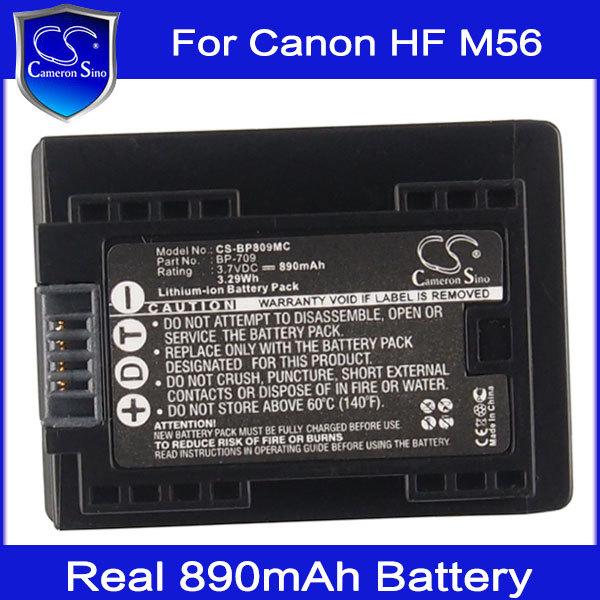 Аккумулятор Cameron Sino 890mAh bp/709 li/ion Canon R306 56 LEGRIA HF R36 R37 R38 VIXIA HF M500 CS-BP809MC видеокамера canon legria hf r806 видеокамера black
