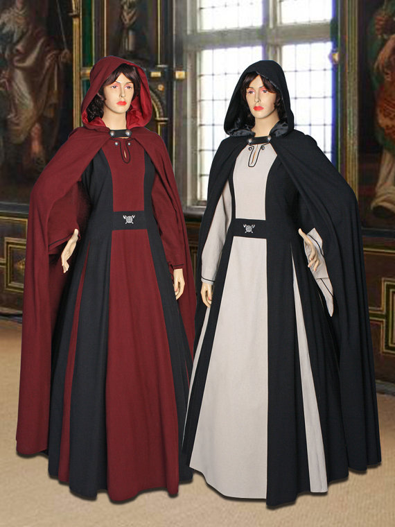 Medieval Costume Gown Countess 100% Natural Cotton handmade Maiden Gown Renaissance Clothing(China (Mainland))