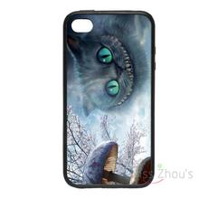 For iphone 4/4s 5/5s 5c SE 6/6s plus ipod touch 4/5/6 back skins mobile cellphone cases cover Wonderland Cheshire Cat Designs