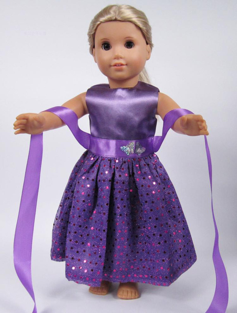 "free shipping purple 18"" american girl doll accessories"