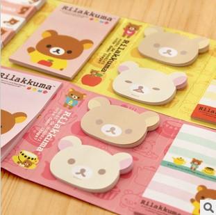 Kawarii Cartoon Rilakkuma 6 Folding Memo Notepad,Note Book&Memo Pad,Sticky Notes Memo Set Gift Stationery KCS(China (Mainland))