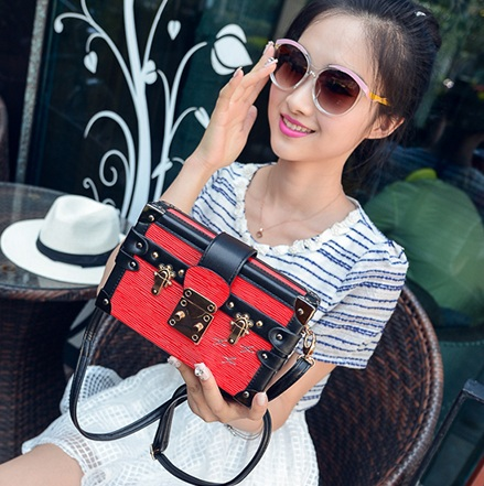 Famous Brand Women Shoulder bag High quality leather Messenger bags Designer Small Box Ladies clutch evening bag purse(China (Mainland))