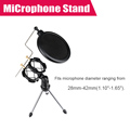 Universal Adjustable Desktop Mini Tripod Studio Condenser Microphone Stand for Microphone with Windscreen Cover P0022785