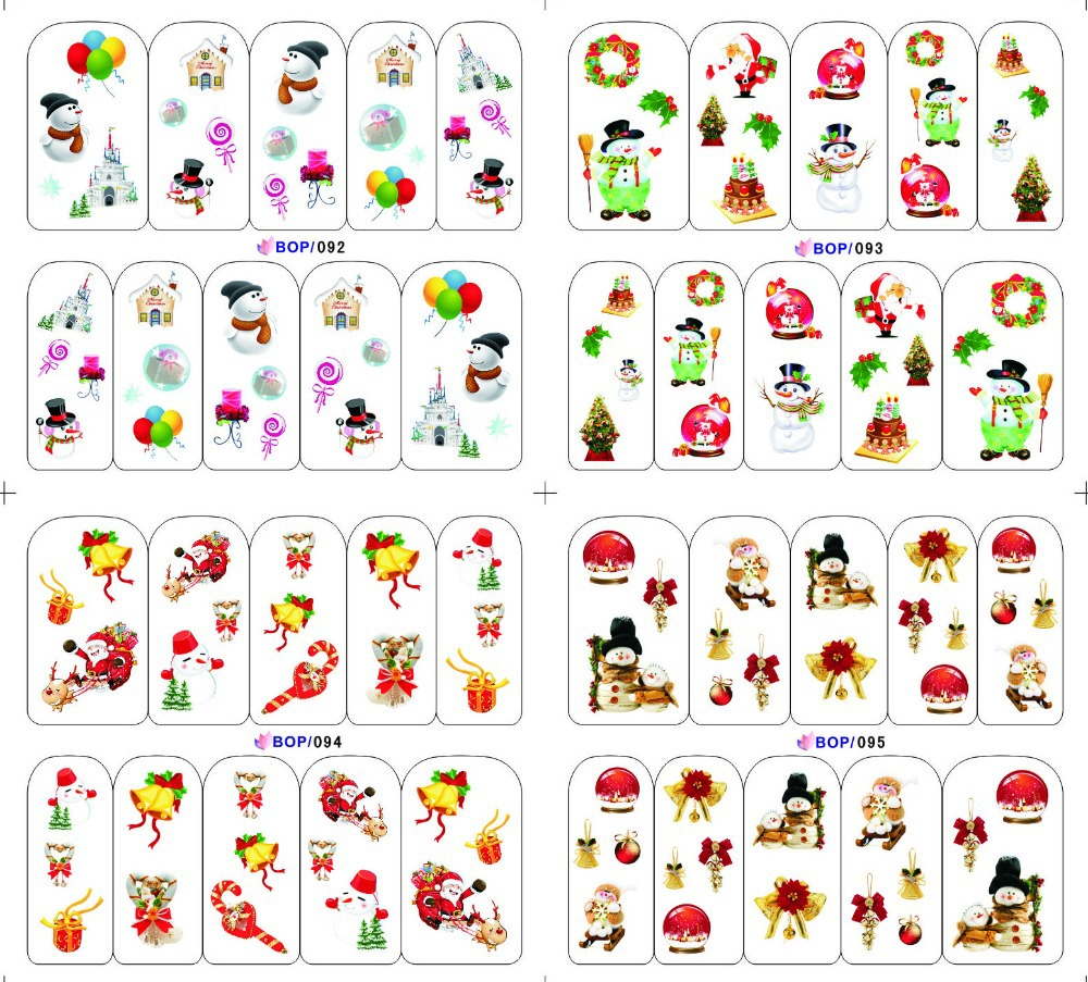 200 Sheets Chirstmas, Halloween design Nail Wraps Water Transfers Decal Various Flowers Nail Art Free Shipping(China (Mainland))