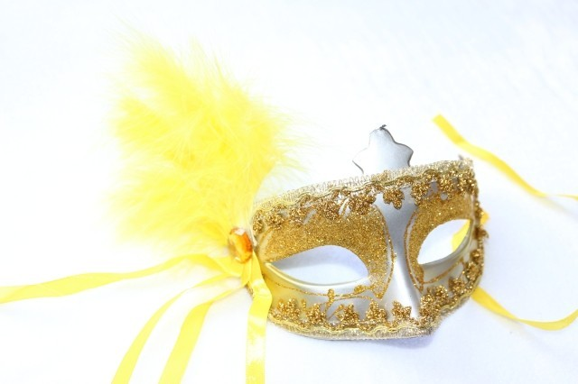 Dayses cosmetic princess mask colored drawing of sidepiece bring flower feather mask male Women