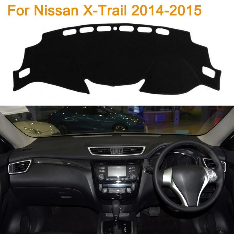 Фотография Car Styling Polyester Dashboard Protective Mat Shade Cushion Photophobic Pad Internal Carpet For Nissan X-Trail 2014-2015 RDH