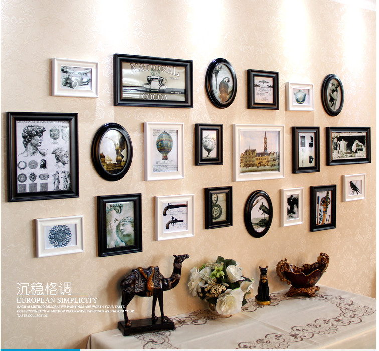 frame photo wall setcheap price black photo collage frames