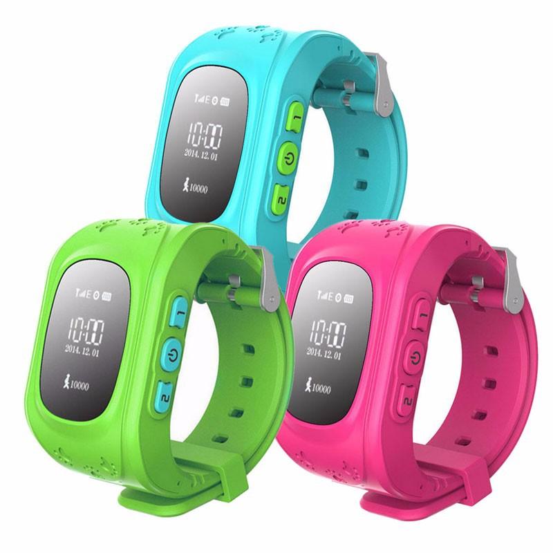 2016 Smart Kid Safe GPS Watch Wristwatch SOS Call Location Finder Loca
