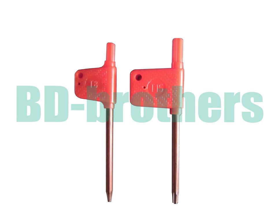 T6 T7 T8 T9 T10 T15 T20 Torx Screwdriver Spanner Key Small Red Flag Screw Drivers Tools 1000pcs/lot<br><br>Aliexpress
