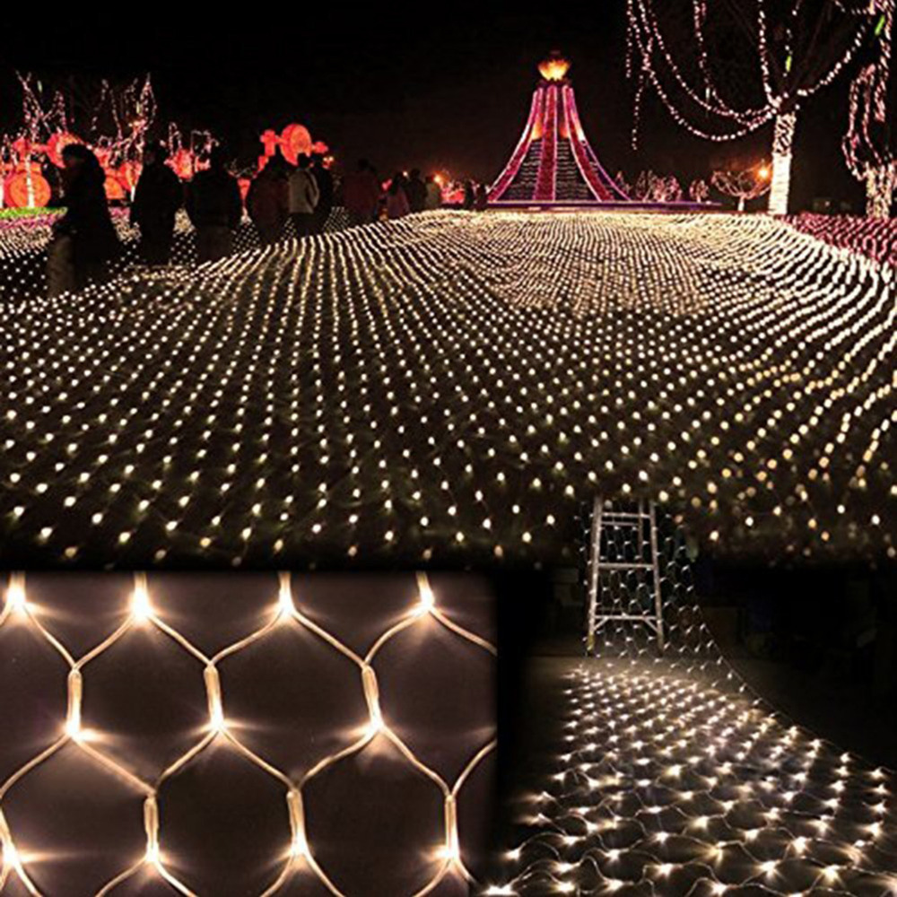 3m*2m 200 LED Net Mesh Fairy String Light Christmas Wedding Party Fairy String Light with 8 Function Controller EU/US/UK Plug(China (Mainland))
