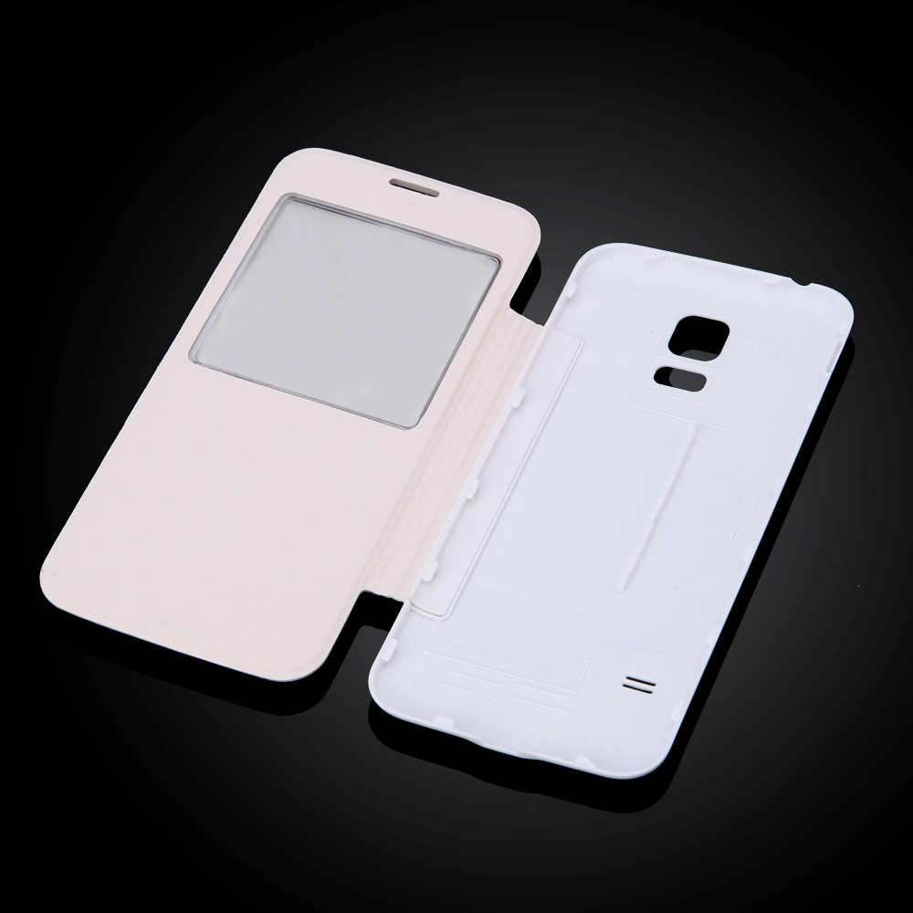 S5 Mini Luxury View Window Case For Samsung Galaxy S5 Mini G800 Flip Phone Case Battery housing Cover