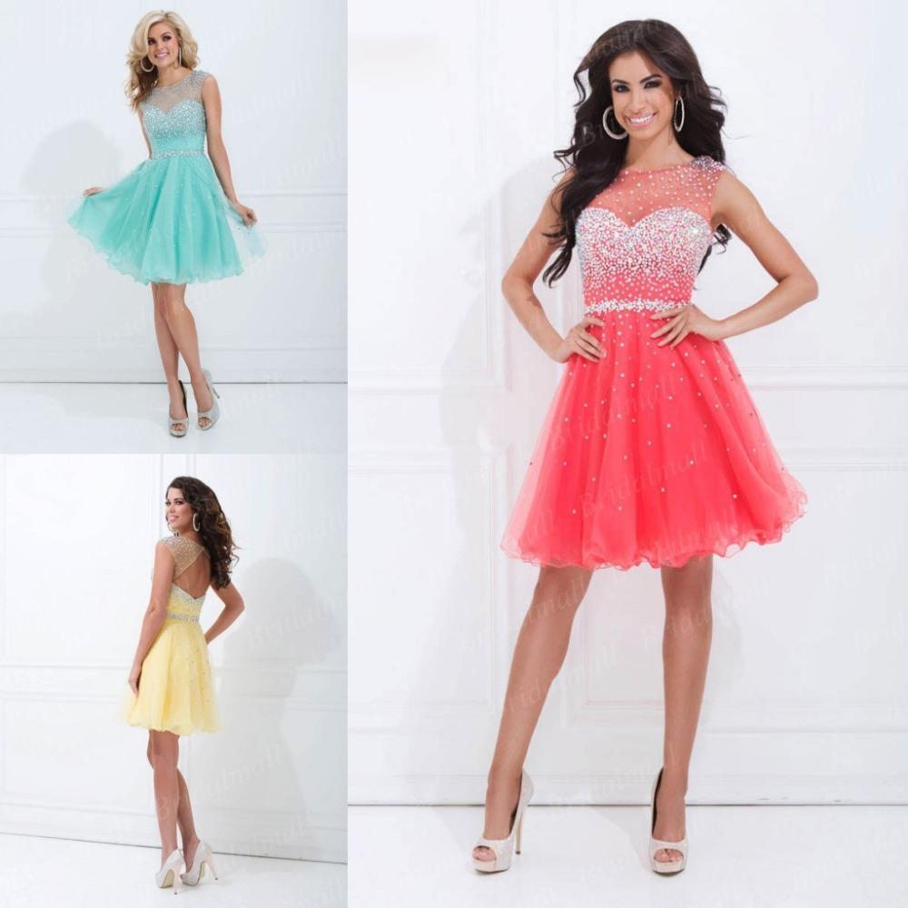 Shipping Custom Dress Line Knee: Girls Dresses A Line Knee Length Beaded High Neck Chiffon