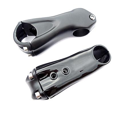 logo angle 10/ 17 stem mtb bike road bike stem alloy + 3k carbon fiber stem 80/90/100/110/mm hole supper computer