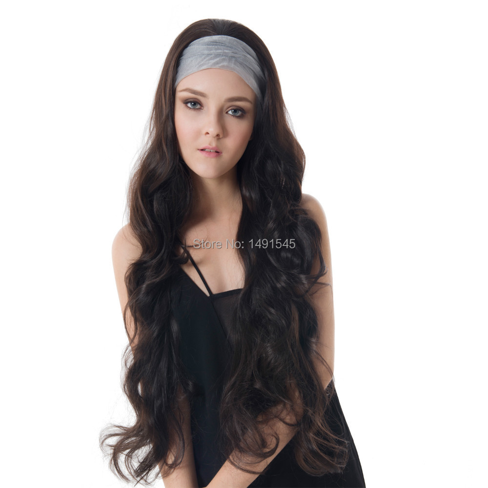 "Dayiss Brand Fashion Lady 31.5"" Long Wavy Curly Beautiful Hand Weave Hair Fall/Half Wig Daily Wear No Head Scarf Wig Wholesaler(China (Mainland))"