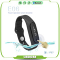 2016 Touch Screen Smart Band Wristband E06 Bracelet Fitness Wearable Tracker Waterproof IP57 Bluetooth Watch for