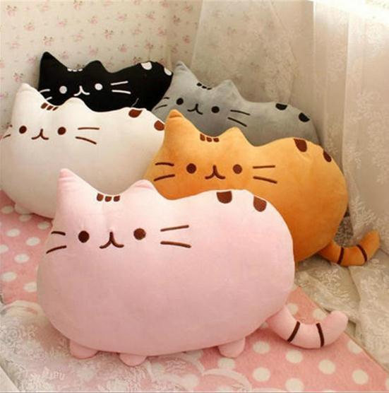 40*30cm plush toy stuffed animal doll,talking anime toy pusheen cat for girl kid kawaii,cute cushion brinquedos,X955(China (Mainland))