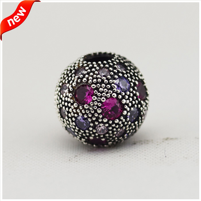 Purple Cosmic Stars Clip Charm  Fit for Pandora Bracelet 100% 925 Sterling Silver Beads DIY Making Jewelry FL12029A<br><br>Aliexpress