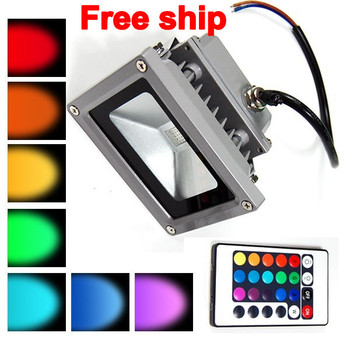 CE&ROHS Approval 30W RGB Color Changing LED Flood Light Garden Outdoor Floodlight AC 85-265V+24Key Remote Control