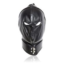 Buy Hood Bondage Restraint Zipper Open Mouth Eye Devil Mask Sex Mask Fetish Adult Game Flirting Sex Toys Love Game Sex SM Products for $17.85 in AliExpress store
