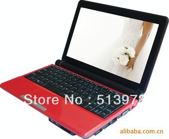 hot lowest 10 inch intel windows-7 notebook netbook mid 1.86ghz 1gb/160gb(upto 4gb/500gb) battery 3000/6000mha factory on sale