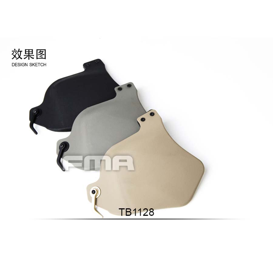 FMA Airsoft Tactical Paintball Helmet Military Kevlar Side Covers With Pads Ballistic For Helmet Rail Helmet Accessory(China (Mainland))