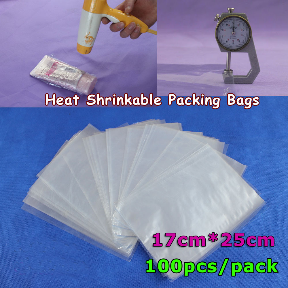100Pcs 6.7x9.8Inch(17x25cm) Soft Transparent Blow Molding PVC Heat Shrinkable Bags Film Wrap Cosmetic Packaging Wrap Materials(China (Mainland))