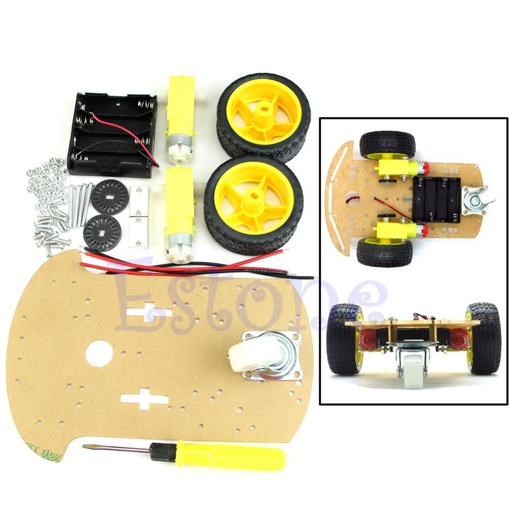 Free Shipping Motor New Smart Robot Car Chassis Kit Speed Encoder Battery Box For Arduino