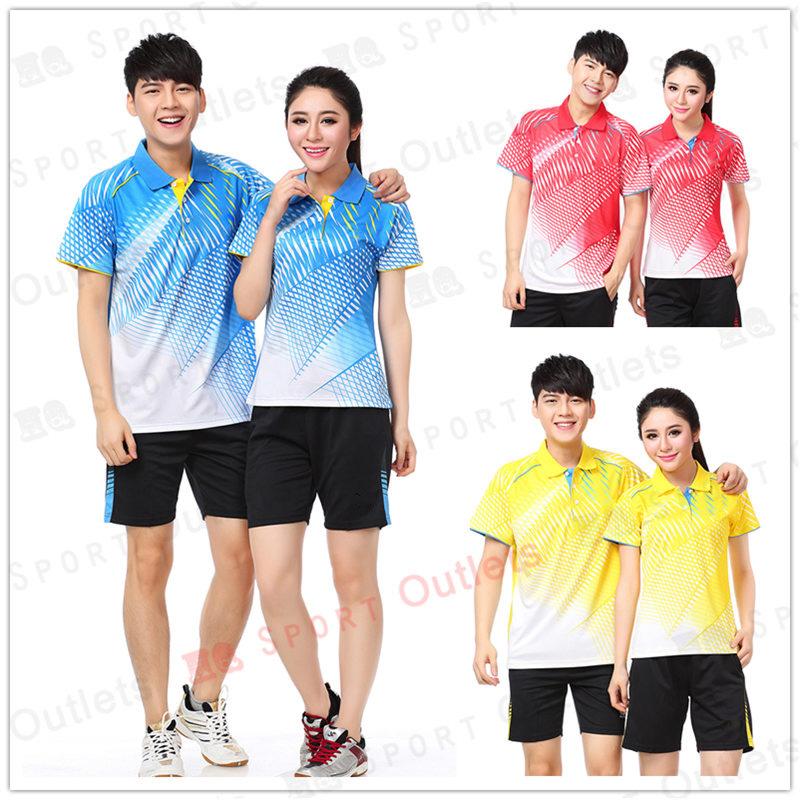 Quick Dry Tennis Set (Polo + Shorts) Fashion Badminton Table Tennis Polyester Sportswear BTF01(China (Mainland))