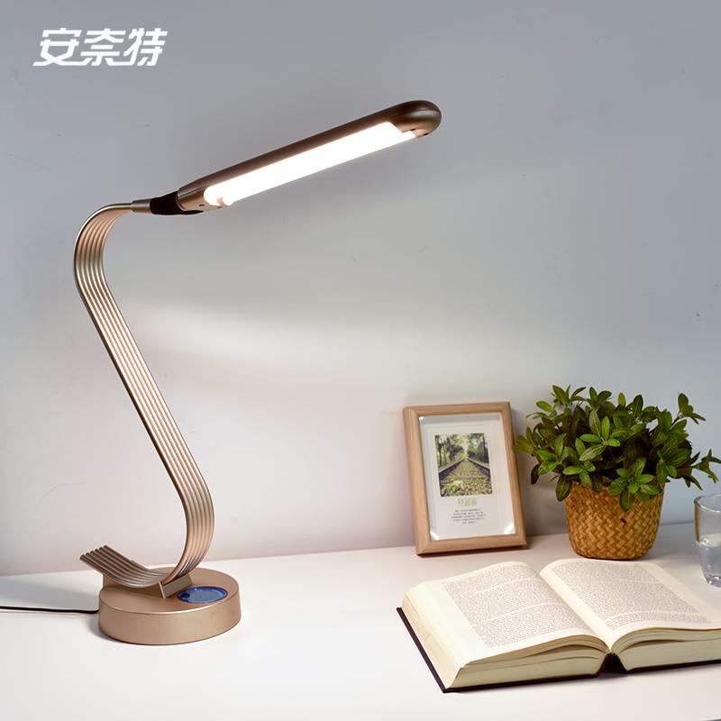 220v Super Bright Led Table Lamp 15w Novelty Swan Design 6 Level Dimmer Bedroom Reading Office