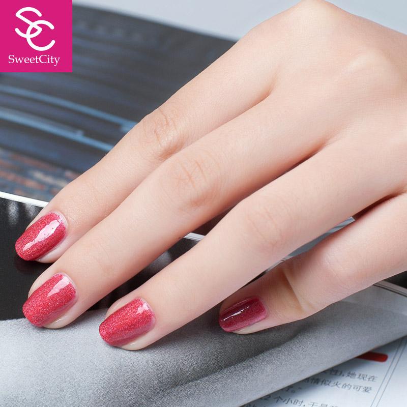 SweetCity Brand High Quality Quick Dry Nail Polish Crimson DoderBlue Nail Art Tools 1Bottle14ml(China (Mainland))