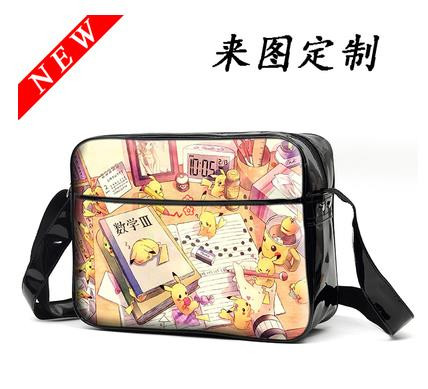Anime POKEMON Pikachu Fate/zero saber Messenger Bag Shoulder School Bags Pocket Monster Travel Bolsa Free Shipping