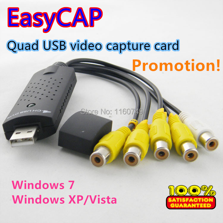 DVR карта OEM 4/usb 4 usb2.0 dvd vhs EasyCAP easycap5 brand new easycap usb 2 0 video tv dvd vhs capture card adapter for computer cctv camera free shipping
