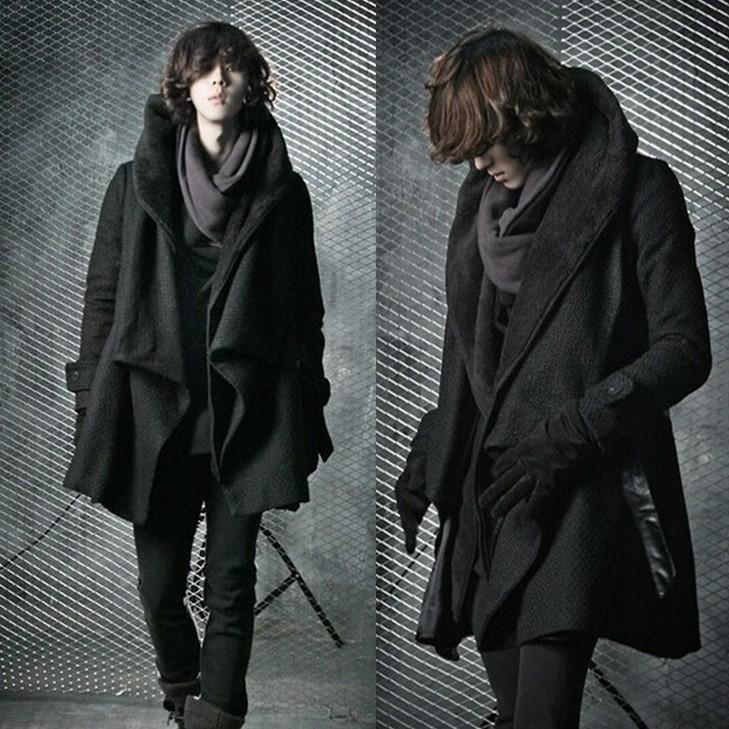 2017 мужская Британский стиль ветровка куртка теплая личность мужская мода длинные пальто шанца